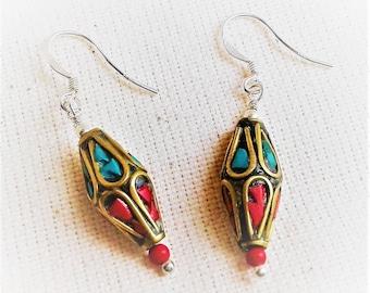 Ethnic earrings Himalaya the Tibet