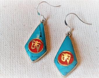 Turquoise - Zen - Nepal jewelry jewelry earrings