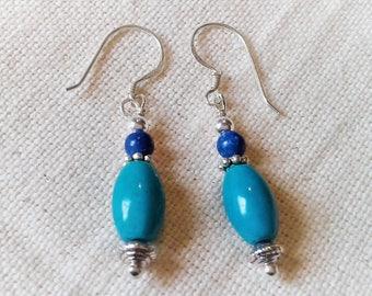 Ethnic earrings - Turquoise Jewelry - Nepal jewelry