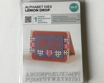 Scrapbooking die Alphabets size 1.5 cm height 31 die cutout memory keepers