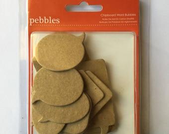 Embelissements Chipboard bubbles cardboard Pebbles