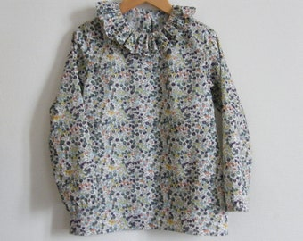 LIBERTY Wiltshire Autumn Blouse Child 2/3/4/5/6/8/10 years long or short sleeves