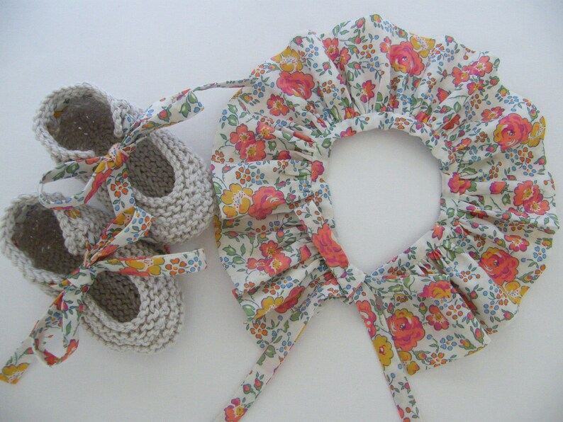 choice Baby Col and LIBERTY Shoes Set Tangerine Bliss birth 1369 months