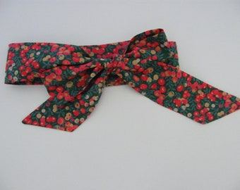 Belt, Headband, Headband, Foulchie LIBERTY Wiltshire Gold/red/green, Women, of your choice