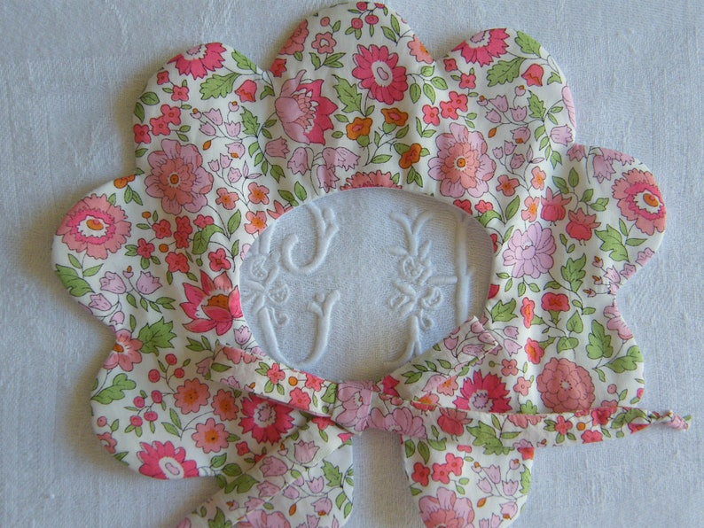 Col Shoes Birth set in LIBERTY D/'Anjo rose B\u00e9guin Bloomer