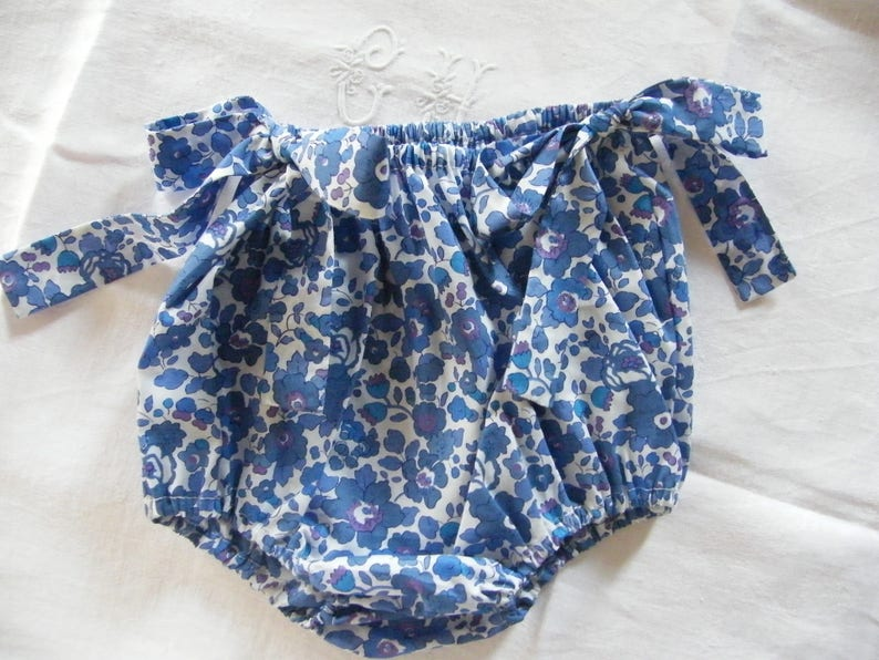 Bloomer bow LIBERTY Betsy birth Lavender 1361218 month onesie