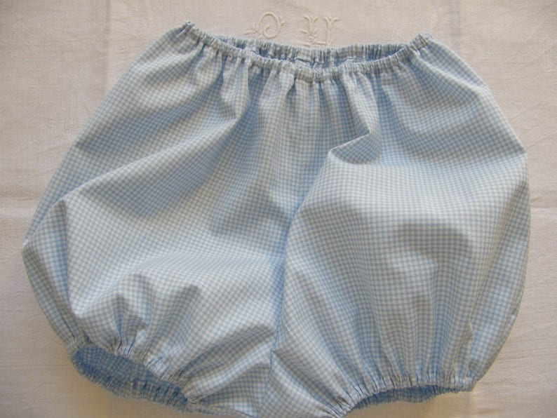 many cottons or 691218 months to 2 years Bloomer blue gingham to choose from