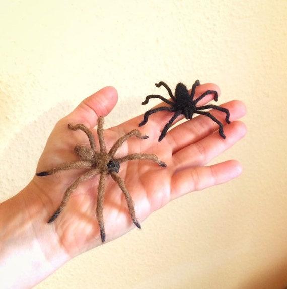 Spider brooch Needle felted spider