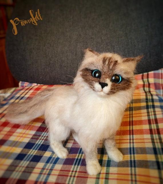 Valentine S Day Gift Ooak Fluffy Ragdoll Cat Sculpture Etsy
