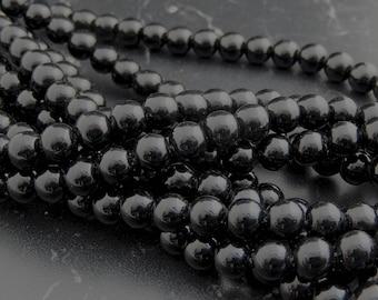 Agate noir 4,6, 8, 10 mm grade A