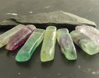 Natural fluorite 5 pendants