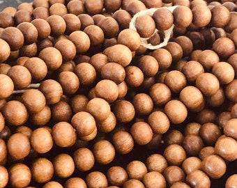 108 Pearls tropical wood scented sandalwood 6/8mm