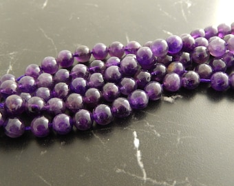 Pearl Amethyst 8 mm, set of 10 beads