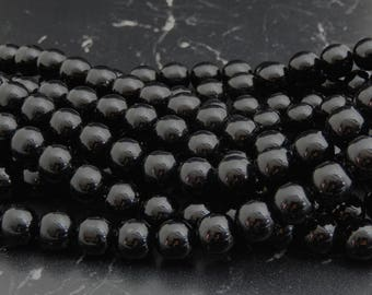 beads Agate 10 mm, set of 10 beads
