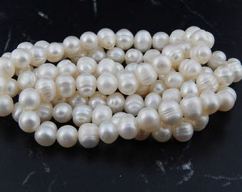 Freshwater cultured pearls,grade A 6 /7mm