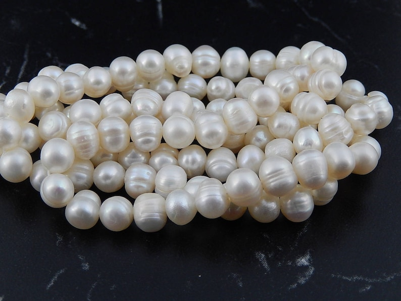 Freshwater cultured pearlsgrade A 6 /7mm image 0