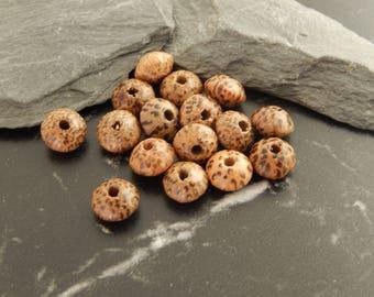 Set of 10 lotus flowers seed beads