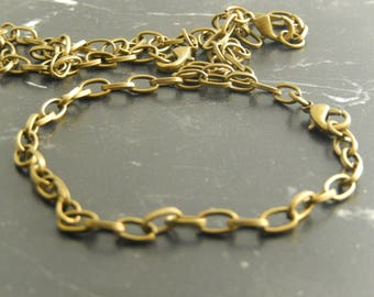 5 Ancient bronze chain bracelet with clasp
