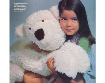 Bear Sewing Pattern - Stuffed Animal Stuffie Plushie Polar Bear
