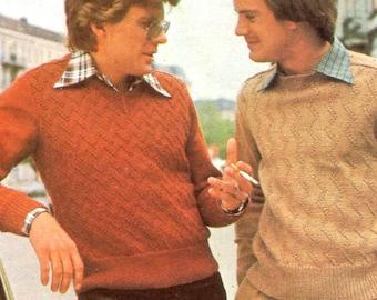 Zigzag Pullovers Knitting Pattern
