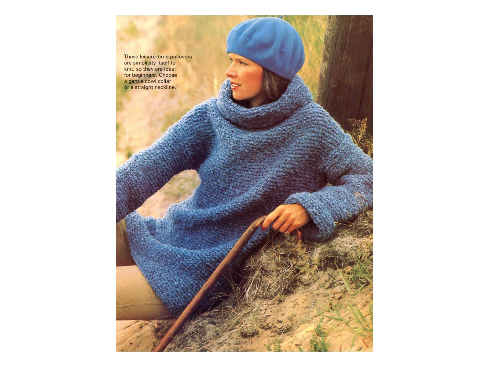 Sweater Knitting Pattern Cowl Neck Turtleneck Etsy