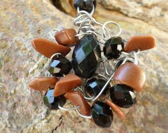 Onyx, Sunstone pendant