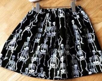 Halloween skeleton skirt