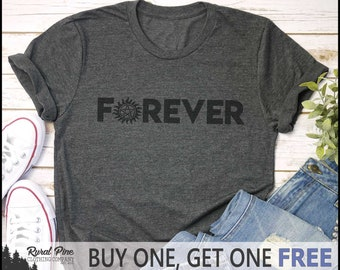 a6b1730f8 SALE TODAY: Supernatural FOREVER Finale T-Shirt // Supernatural Shirt /  Supernatural Gift / Dean Winchester / Sam Winchester