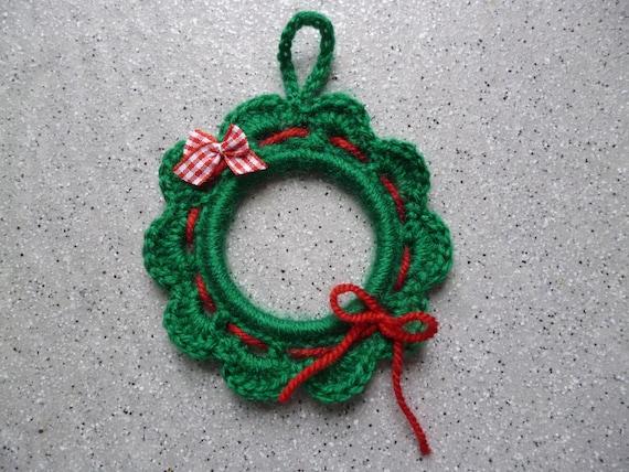 Couronne De Noel Réalisée Au Crochet Fait Main Ornement De Noel Christmas Ornement De Sapin Décoration De Noel Crochet