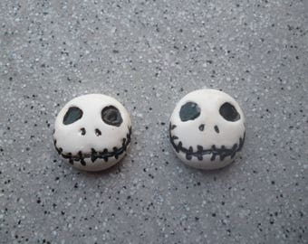 2 magnets for fridge Mr Jack head made of polymer clay