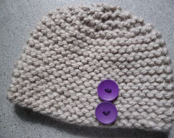 Chunky hand knitted wool