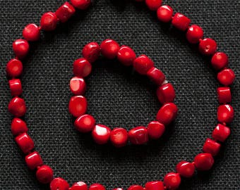 Women's Necklace Stone Red Coral Necklace with Matching Bracelet Necklace for Women