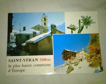 619) set of postcards from the highest village in Europe