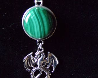 malachite necklace and her dragon