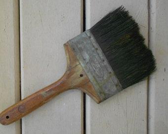 Large Horse Hair Paint Brush,Wooden Handle,Large brush,Very Vintage