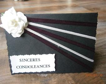 """""""Heartfelt condolences..."""" sympathy card"""
