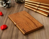 personalized wooden business card holder boss gift coworker card case wood holder custom corporate gift idea credit cardholder employee gift
