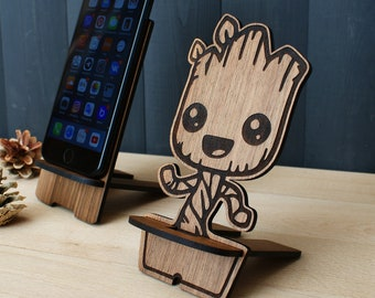 Wood iphone stand | Etsy