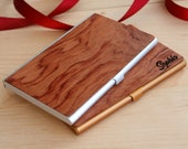 business stationery men card case personalized wooden business card holder wood holder custom corporate gift idea credit cardholder employee