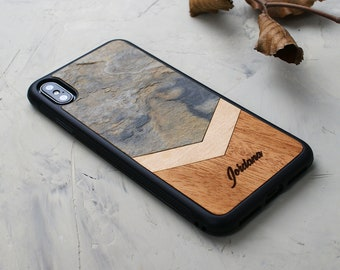 CYD Wooden Case for iPhone 7 Plus,iPhone 8 Plus Natural Real Wood Engraved American Flag USA Shockproof Drop Proof Slim Bumper TPU Protective Cover