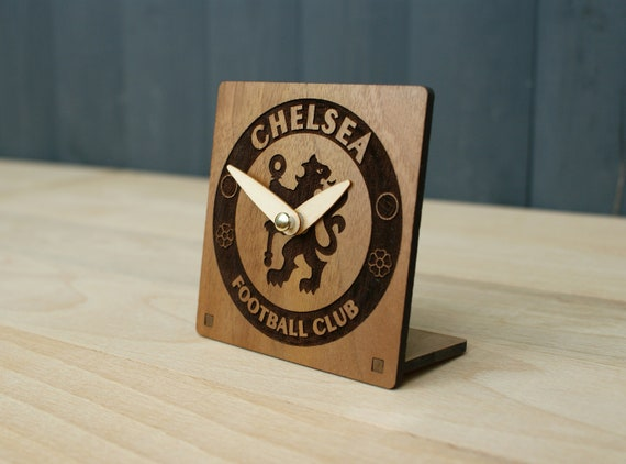 Real Madrid Logo Art Wood Wall Clock Modern Football Club gift idea For Men