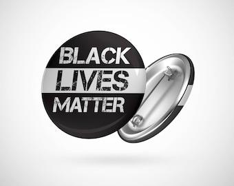 "Black Lives Matter  — 2.25"" Pinback Pin Button Badge BLM"