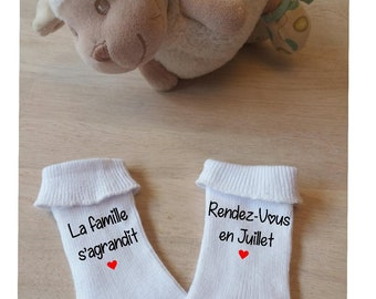 announcement pregnancy socks baby the family is growing, original announcement,