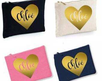 EvJ kit personallized first name, EVJF kit, bride team, bridesmaid, wedding pouch, witness kit