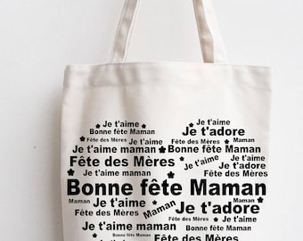 Good cotton bag mother's day, MOM gift, mother's day, I love you MOM, MOM bag