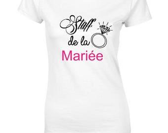 T-shirt bachelorette party location of the bride