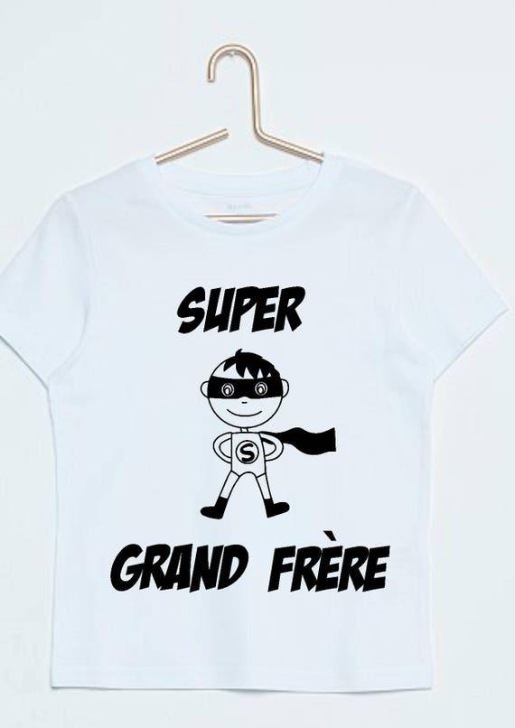 tee shirt super grand frère, annonce grossesse, futur grand frère, superhéro