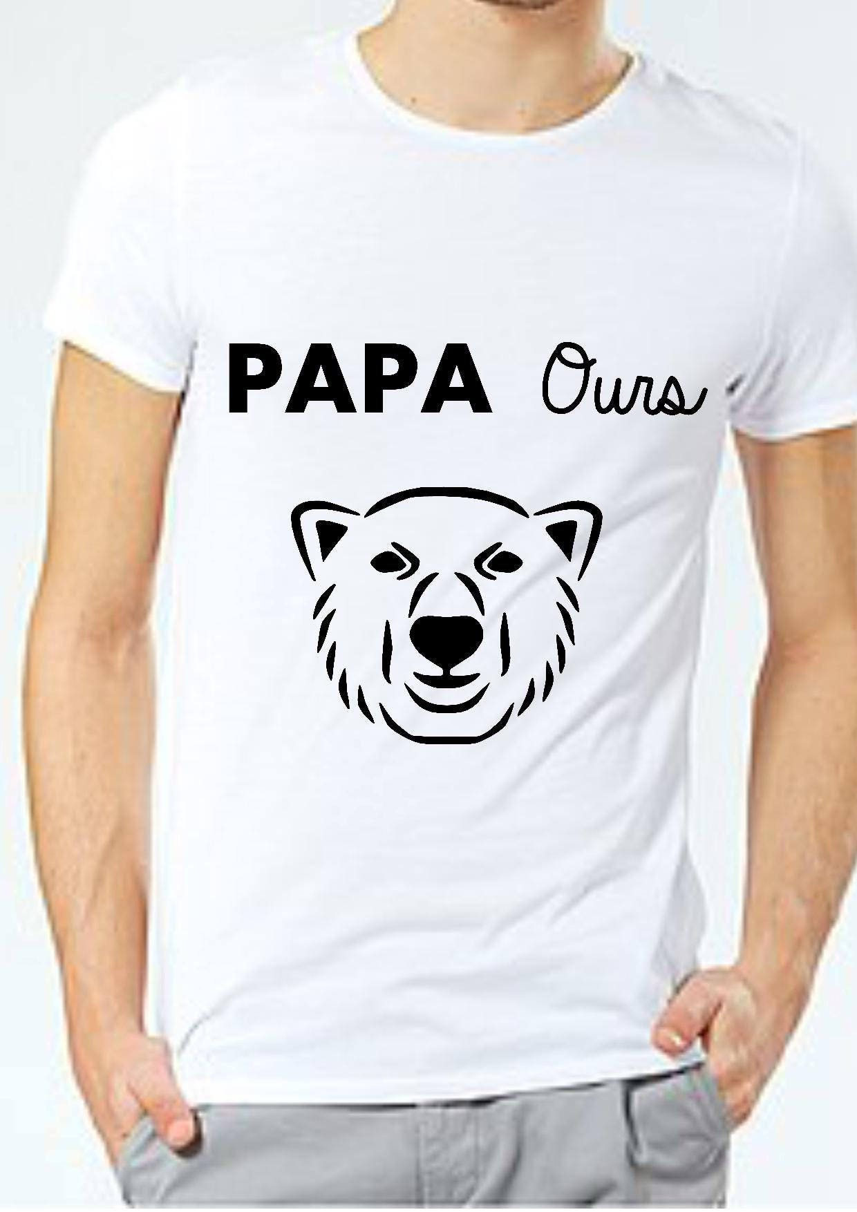 papa ours tee shirt cadeau papa tee shirt humour p re etsy. Black Bedroom Furniture Sets. Home Design Ideas