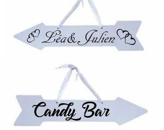 Customizable direction arrow. arrow wedding. Arrow birthday. Personalized direction arrows