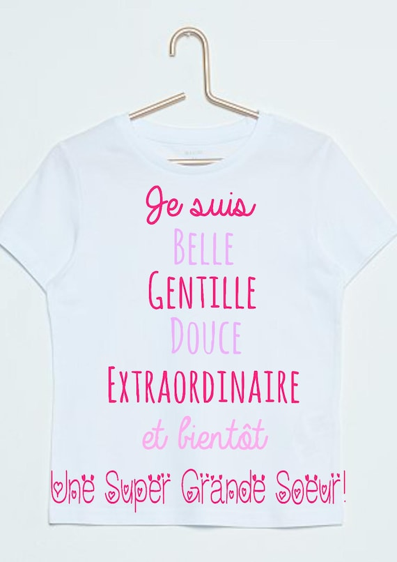 Tee shirt annonce grossesse future grande